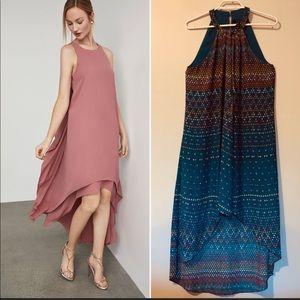 BCBGMaxAzria High/Low Geometric Dress